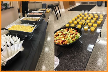 Breakfast catering for family events and office meetings